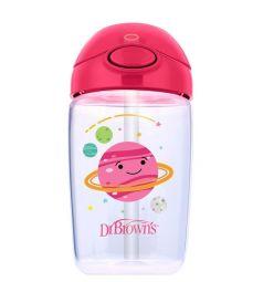 Чашка-поильник Dr.Brown's с трубочкой, с 12 мес, цвет: розовый