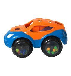 Погремушка Яигрушка Машинка-неразбивайка, цвет: оранжевый/синий, 14 см