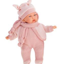 Кукла Juan Antonio Ромина в светло-розовом 27 см