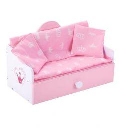 Мебель для кукол Mary Poppins Кроватка-софа Корона 45 х 22 х 28 см