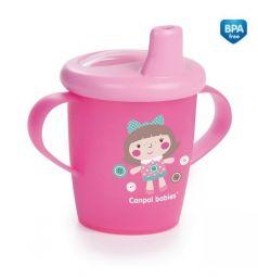 Поильник-непроливайка Canpol Toys с мягким носиком, с 9 месяцев, цвет: розовый