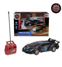 Машинка на радиоуправлении Пламенный мотор Ралли Стрит цвет: черный/синий 12 см