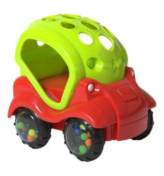 Погремушка Яигрушка Машинка-неразбивайка, цвет: зеленый/красный, 13 см