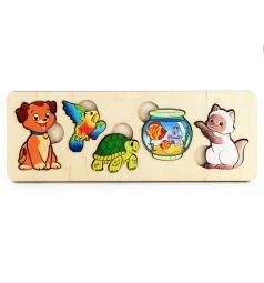 Пазл-рамка Нескучные игры Домашние животные