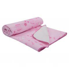 Funecotex Одеяло байковое Мишки 98 х 118 см, цвет: розовый