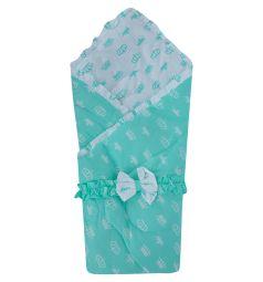 Funecotex Конверт-одеяло Короны, цвет: белый/зеленый