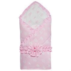 Funecotex Конверт-одеяло Короны, цвет: белый/розовый
