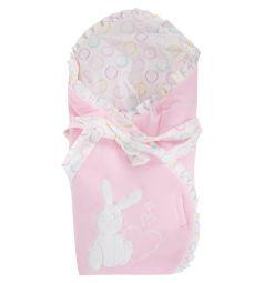 Leader Kids Конверт-одеяло Зайка с сердцем, цвет: розовый