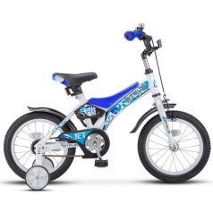 Двухколечный велосипед Stels Jet 14 Z010 (2018) 8.5, цвет: белый/синий