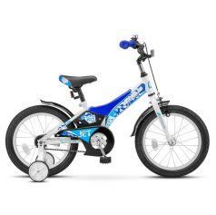 Двухколечный велосипед Stels Jet 16 Z010 (2018) 9, цвет: белый/синий