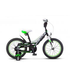 Двухколечный велосипед Stels Pilot-180 18 V010 (2018), цвет: черный/зеленый