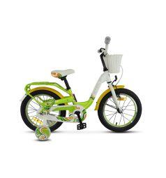 Двухколечный велосипед Stels Pilot-190 16 V030 (2018), цвет: зеленый/желтый/белый