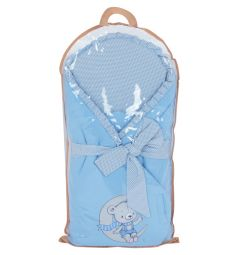 Leader Kids Конверт-одеяло Мишка на луне, цвет: голубой