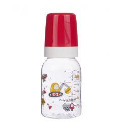 Бутылочка Canpol Machines тритановая с силиконовой соской тритан с 3 месяцев, 120 мл, цвет: красный