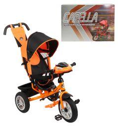 Трехколесный велосипед Capella S-511, цвет: оранжевый