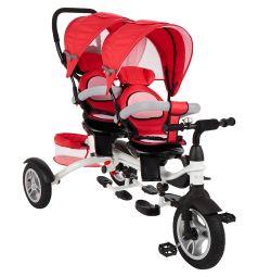 Трехколесный велосипед Capella Twin Trike 360, цвет: красный