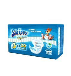 Подгузники Skippy для детей Super Econom р. 3 (4-9 кг) 20 шт.