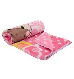 Плед Три медведя 90 х 90 см, цвет: розовый