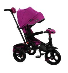 Трехколесный велосипед Moby Kids New Leader 360° 12x10 AIR Car, цвет: ягодный/пурпурный