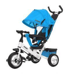 Трехколесный велосипед Moby Kids Comfort 10x8 EVA, цвет: голубой
