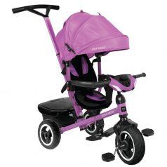 Трехколесный велосипед Moby Kids Rider 360° 10x8 AIR Car, цвет: фиолетовый