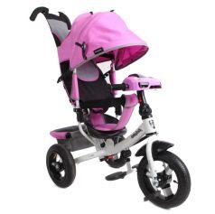 Трехколесный велосипед Moby Kids Comfort 12x10 AIR Car 2, цвет: лиловый