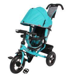 Трехколесный велосипед Moby Kids Comfort 12x10 AIR, цвет: бирюзовый