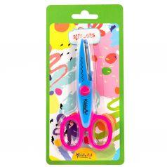 Ножницы детские материал ручек: пластик тип колец: симметричные KiddieArt Зиг-заг