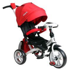 Трехколесный велосипед Moby Kids Leader 360° 12x10 EVA Car, цвет: красный