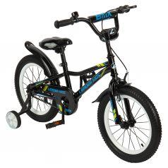 Двухколесный велосипед Leader Kids G16BD801, цвет: синий/черный
