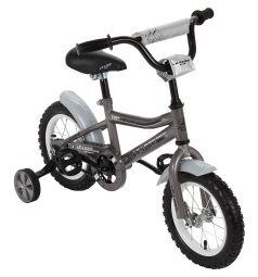 Двухколесный велосипед Leader Kids G12BD702, цвет: серый