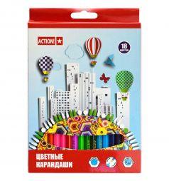 Карандаши цветные Action улучшенный грифель 3 мм