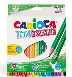 Карандаши цветные Carioca Tita erasable