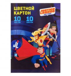 Цветной картон А4 10 Action DC Comics А4 10 листов