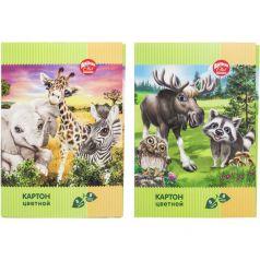 Цветной картон А4 8 листов Action Animal Club