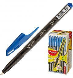 Ручка шариковая Maped Green Dark треугольный корпус неавтоматическая синяя