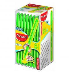 Ручка шариковая Maped Green Ice треугольный корпус неавтоматическая зеленая