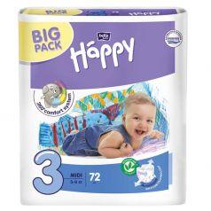 Подгузники Bella Baby Happy Midi 3 (5-9 кг) 72 шт.