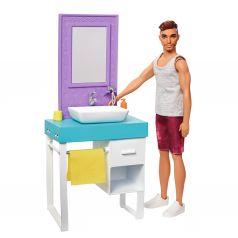 Кукла Barbie Кен и набор мебели Кен в ванной