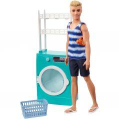 Кукла Barbie Кен и набор мебели Кен в прачечной