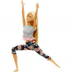 Кукла Barbie Безграничные движения Блондинка в серой футболке