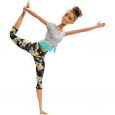 Кукла Barbie Безграничные движения Брюнетка в серой футболке