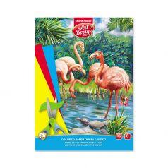 Бумага А4 16л ArtBerry цветная двусторонняя в папке Фламинго