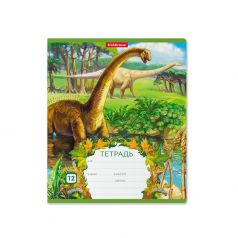Тетрадь А5+ 12л клетка Erich Krause школьная Эра динозавров