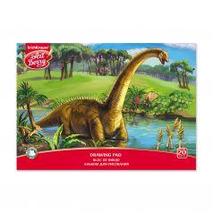 Альбом для рисования А4 20л ArtBerry на клею Эра динозавров