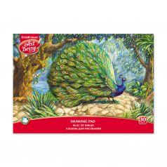 Альбом для рисования А4 30л ArtBerry на клею Экзотические птицы