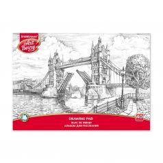Альбом для рисования А4 40л ArtBerry на клею Лондон