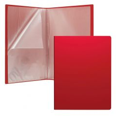 Папка А4 Erich Krause Classic файловая пластиковая c 20 карманами красный