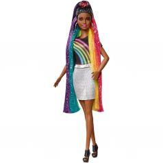 Кукла Barbie Брюнетка с радужными волосами