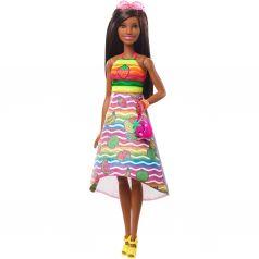 Кукла Barbie Фруктовый сюрприз Брюнетка
